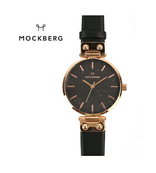 MOCKBERG(モックバーグ) レザーベルト ラウンド 腕時計 レディースウォッチ SIGRID BLACK 34mm・MO110 #MOCKBERG