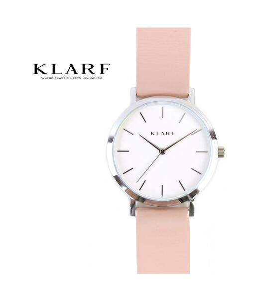 KLARF(クラーフ) レザーベルト ラウンドフェイス 腕時計 レディースウォッチ 38mm・K-1506 #KLARF