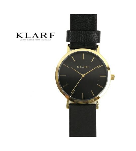 KLARF(クラーフ) レザーベルト ラウンドフェイス 腕時計 レディースウォッチ 38mm・K-1509 #KLARF