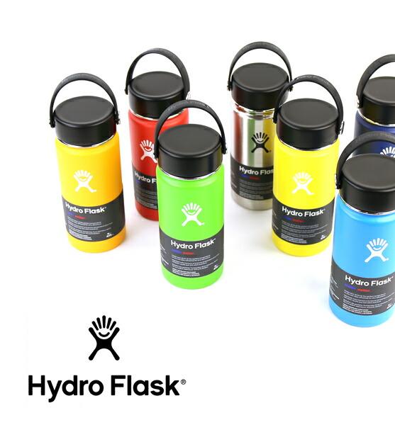Hydro Flask(ハイドロフラスク) ステンレス 携帯ボトル 魔法瓶 ステンレスボトル 水筒 16oz ワイドマウス・5089022  #HydroFlask