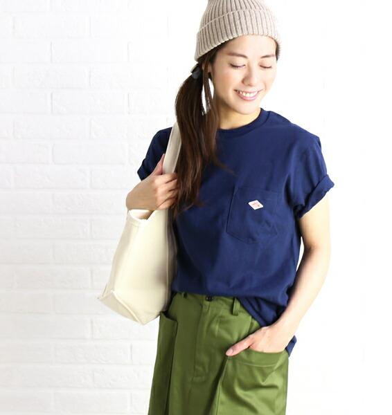 DANTON(ダントン) 空紡コットン 半袖 クルーネック ポケットTシャツ カットソー・JD-9041  #DANTON