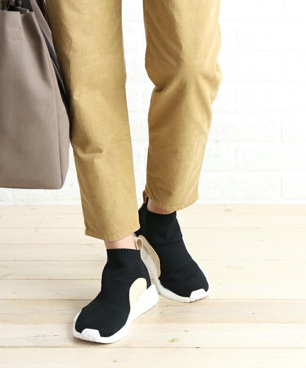 super popular e0fa9 56662 Adidas (adidas) knit X レザーソックライクスニーカースリッポンシューズ NMD CS1 PK, AQ0948-0121802