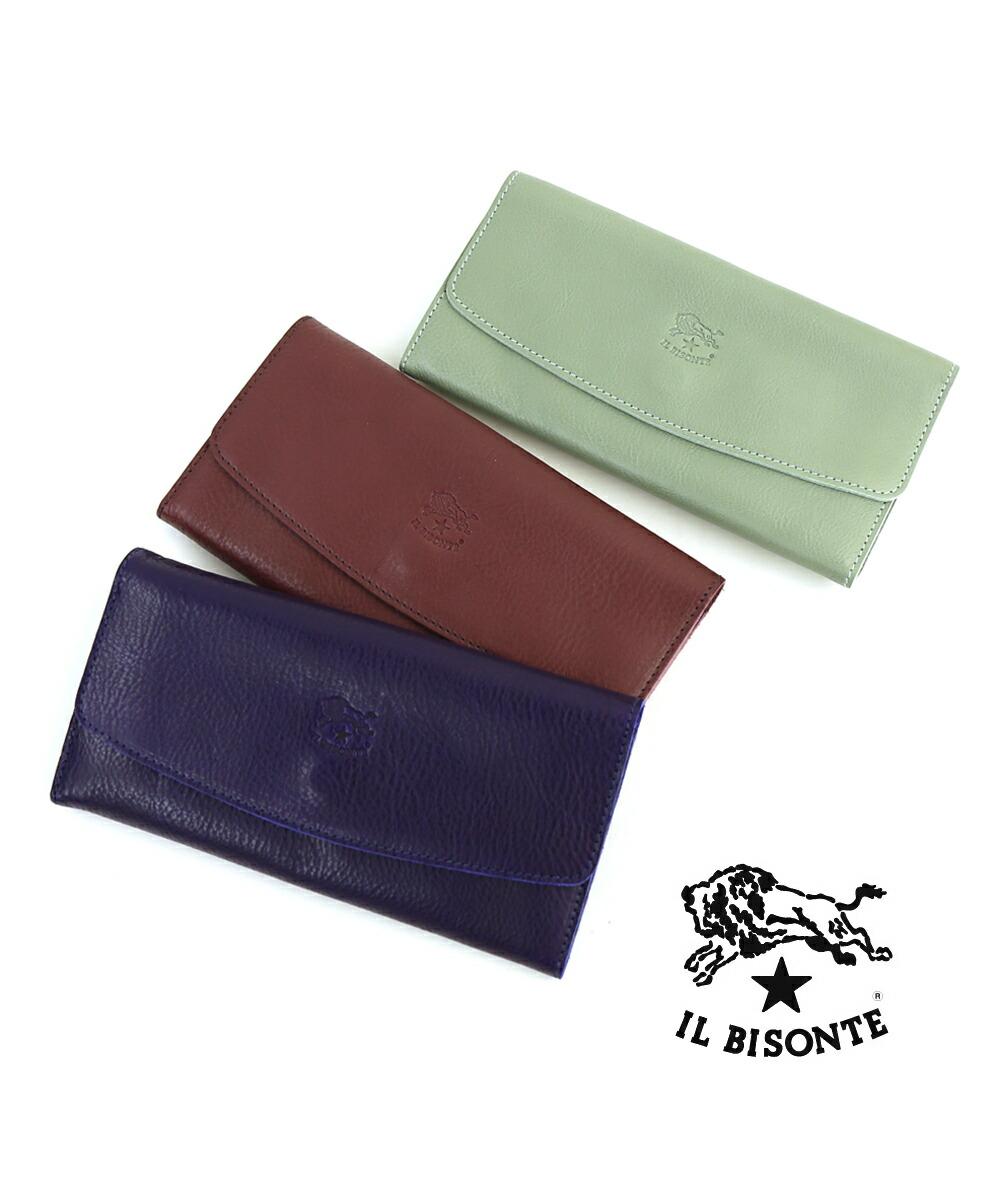 IL BISONTE(イルビゾンテ) レザー  二つ折り長財布 ロングウォレット・54182309440  #ILBISONTE