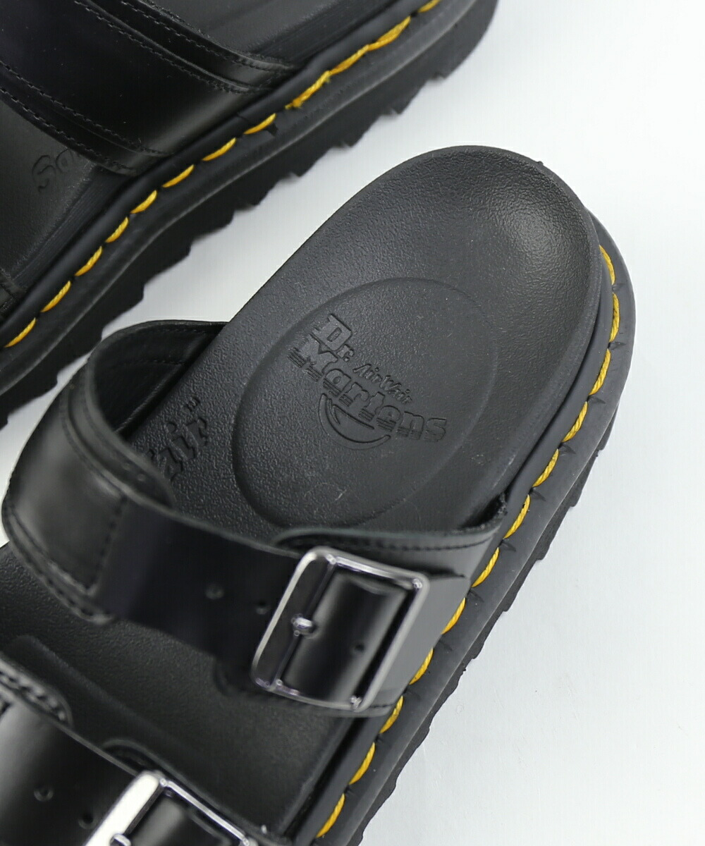 Dr.Martens (doctor Martin) pulling up leather double trap thickness bottom slide sandals MYLES Myles, MYLES 0241901