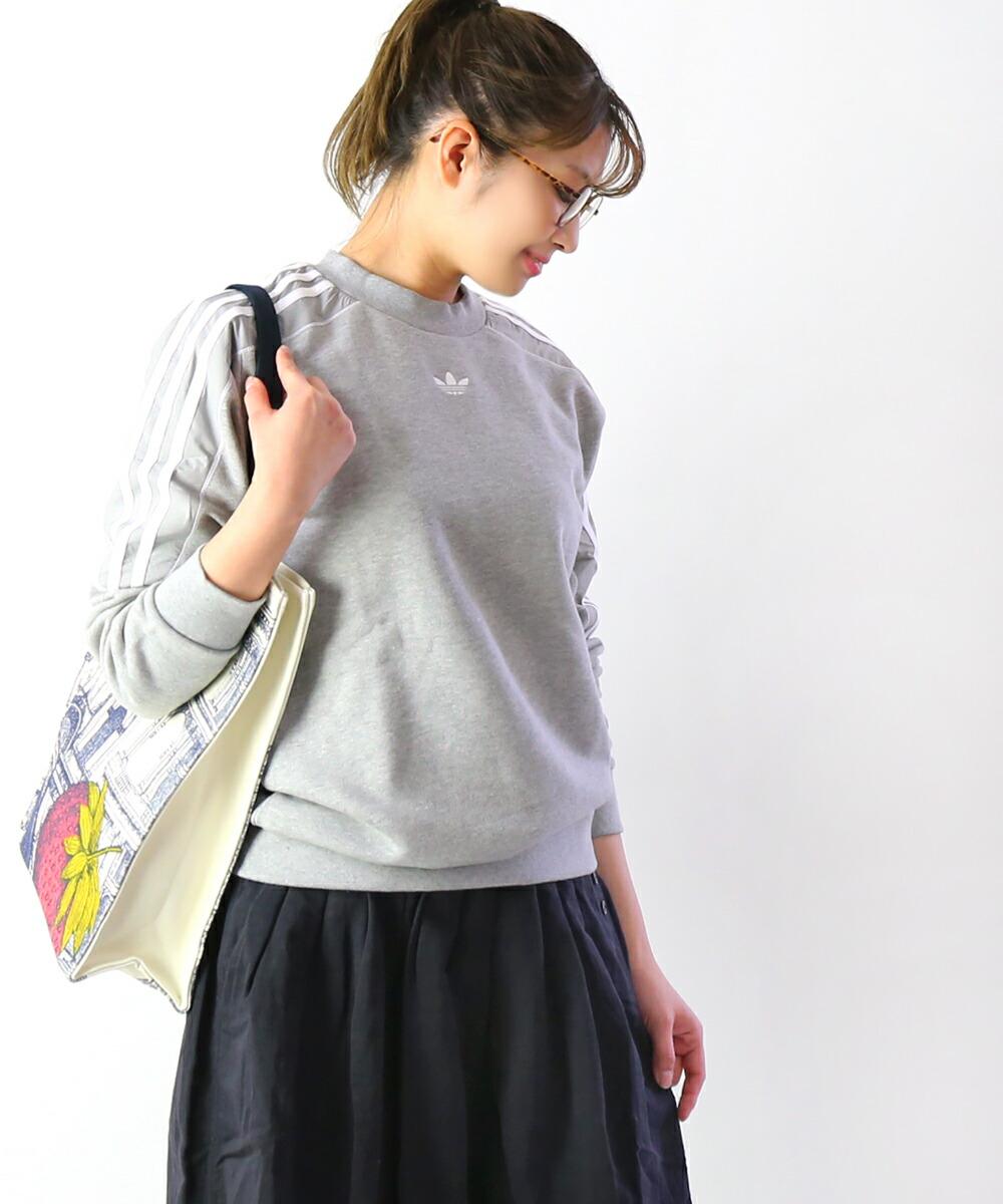Adidas Classics French Terry Crew Sweatshirt für damen in schwarz
