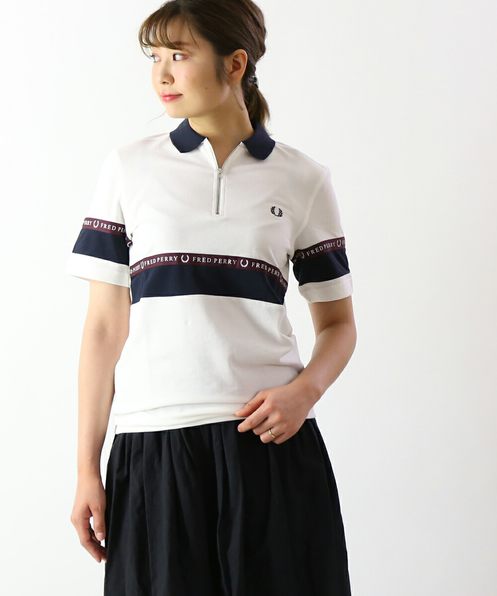 80891b8f Polo shirt half zip sports professional HALF ZIP SPORTS TAPE PIQUE SHIRT,  M5567-3871901 with the FRED PERRY (Fred Perry) cotton picket neck zipper
