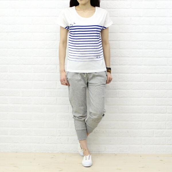 Wearing image of Victoria (Victoria) cotton damage processing ankle length denim underwear, VC-45