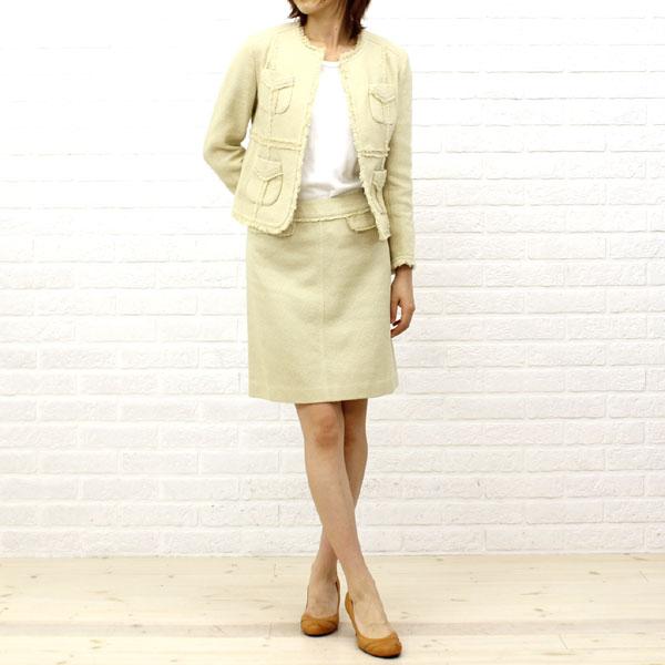TOMORROWLAND collection(トゥモローランドコレクション) コットン 膝丈 トラペーズスカート・14-05-21-05051の着用イメージ