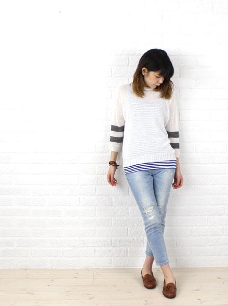 BOEMOS(ボエモス) 羊革  タッセルシューズ・5343200206 の着用イメージ