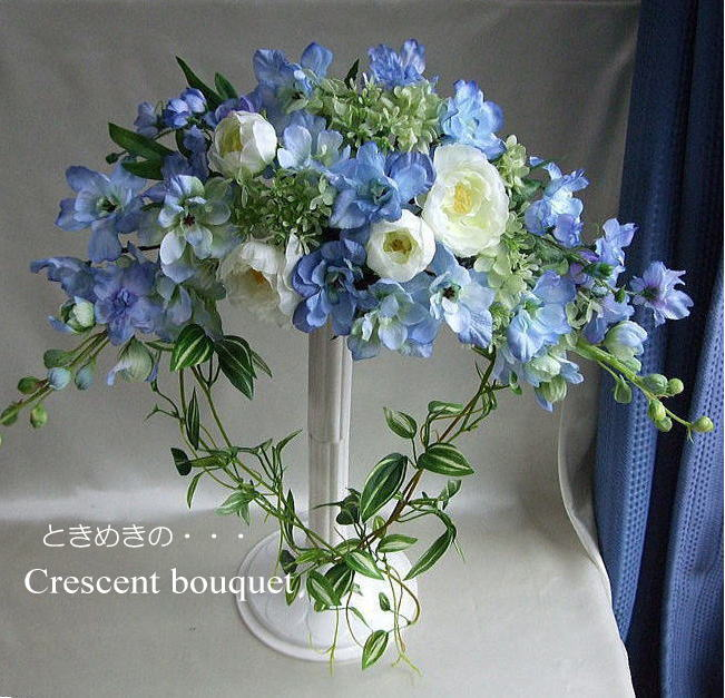 Blue candle rakuten global market something blue for Crescent bouquet