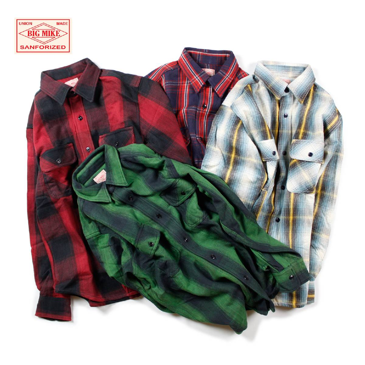 BIG MIKE ビッグマイク HEAVY FLANNEL SHIRT