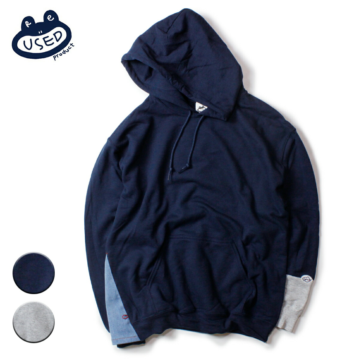 feel so easy/Reused Product Sweat Pullover Parka
