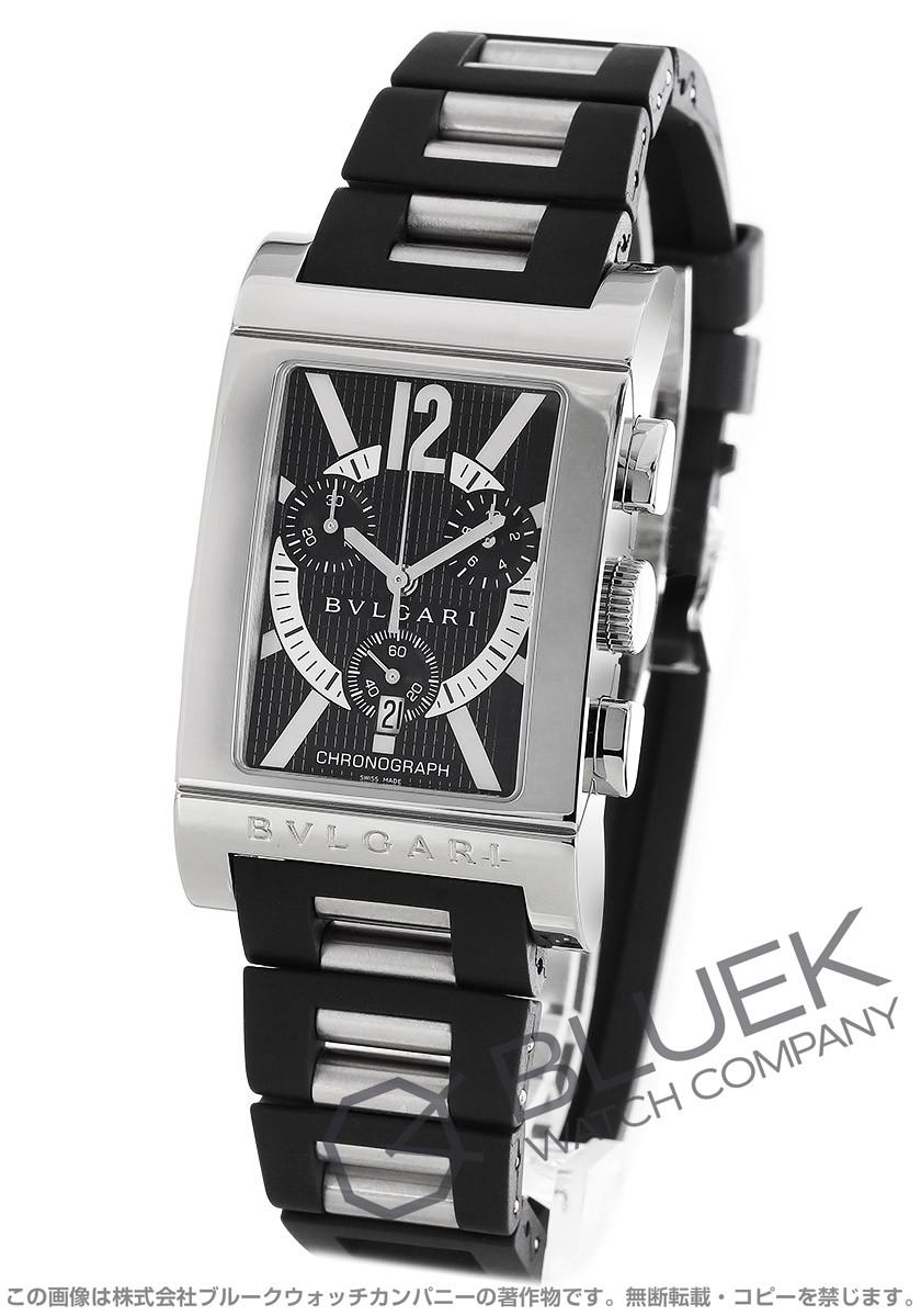 new style 05e29 ff245 ブルガリ レッタンゴロ クロノグラフ 腕時計 メンズ BVLGARI ...