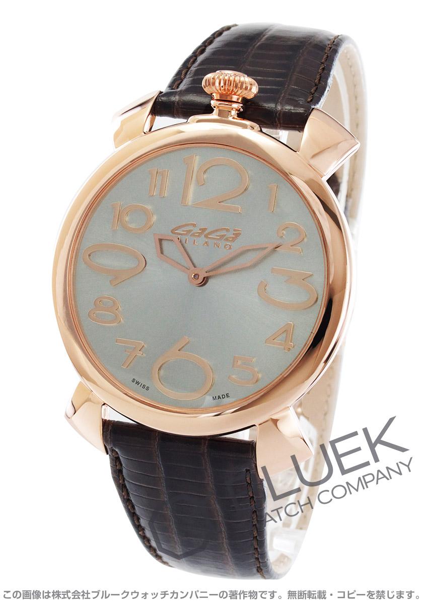 finest selection 43e28 661fd ガガミラノ マヌアーレ シン46MM リザードレザー 腕時計 メンズ ...