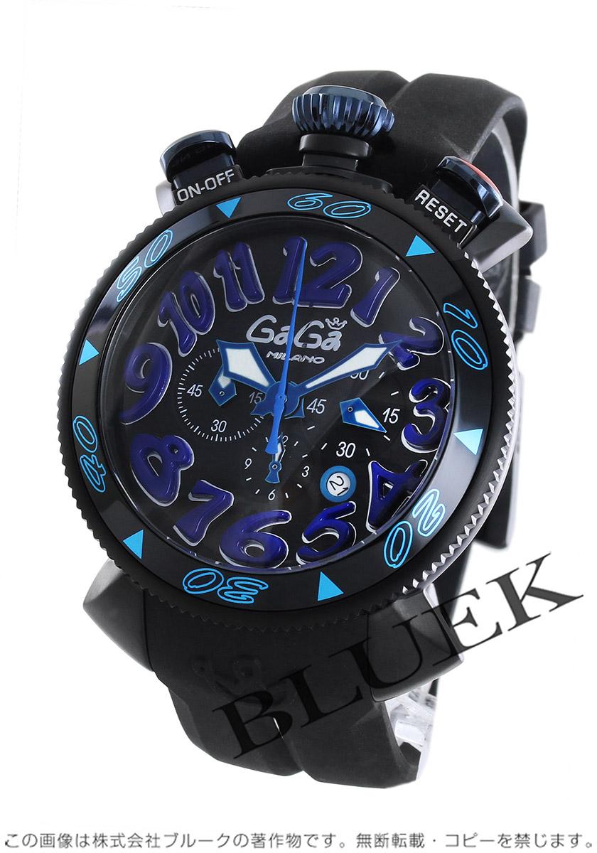 new arrival bd034 c86a8 ガガミラノ クロノ48MM クロノグラフ 腕時計 メンズ GaGa MILANO 6054.1 バーゲン|ブルークウォッチカンパニー