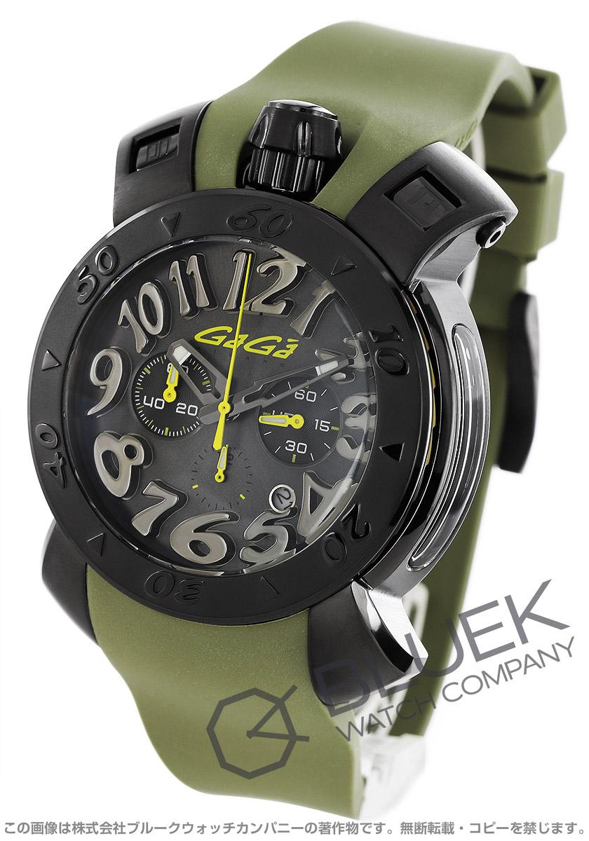 buy popular 7c93a 8418b ガガミラノ クロノ48MM クロノグラフ 腕時計 メンズ GaGa MILANO ...