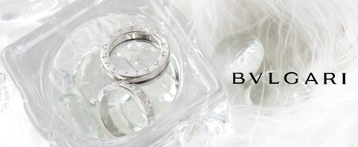 ブルガリダイヤモンドダブルロゴリング(指輪)ホワイトゴールドAN853348