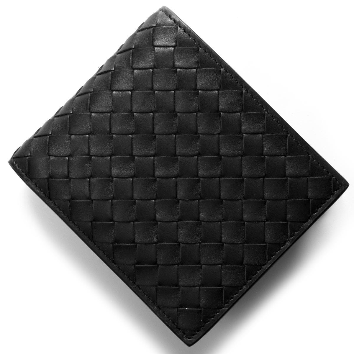 97706b7de568 ボッテガヴェネタ BOTTEGA VENETA. 二つ折り財布 イントレチャート/INTRECCIATO ブラック 415892 V4651 1000  メンズ
