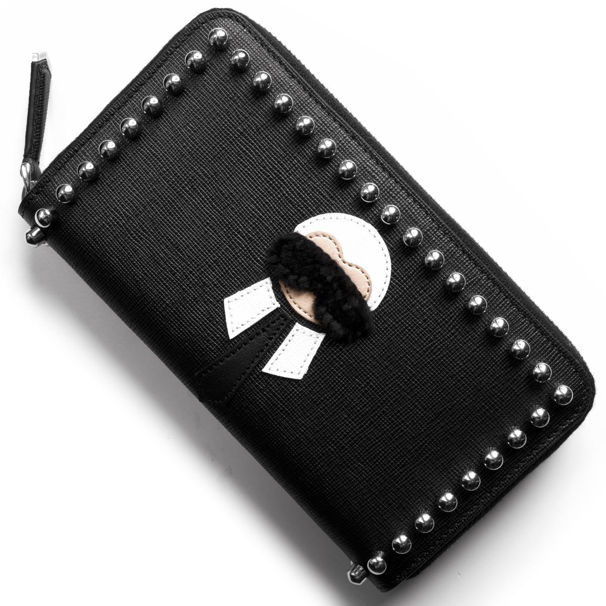 123515ad5b99 フェンディ 長財布 財布 レディース カーリト ブラック 8M0299 7MP F0V3X ...