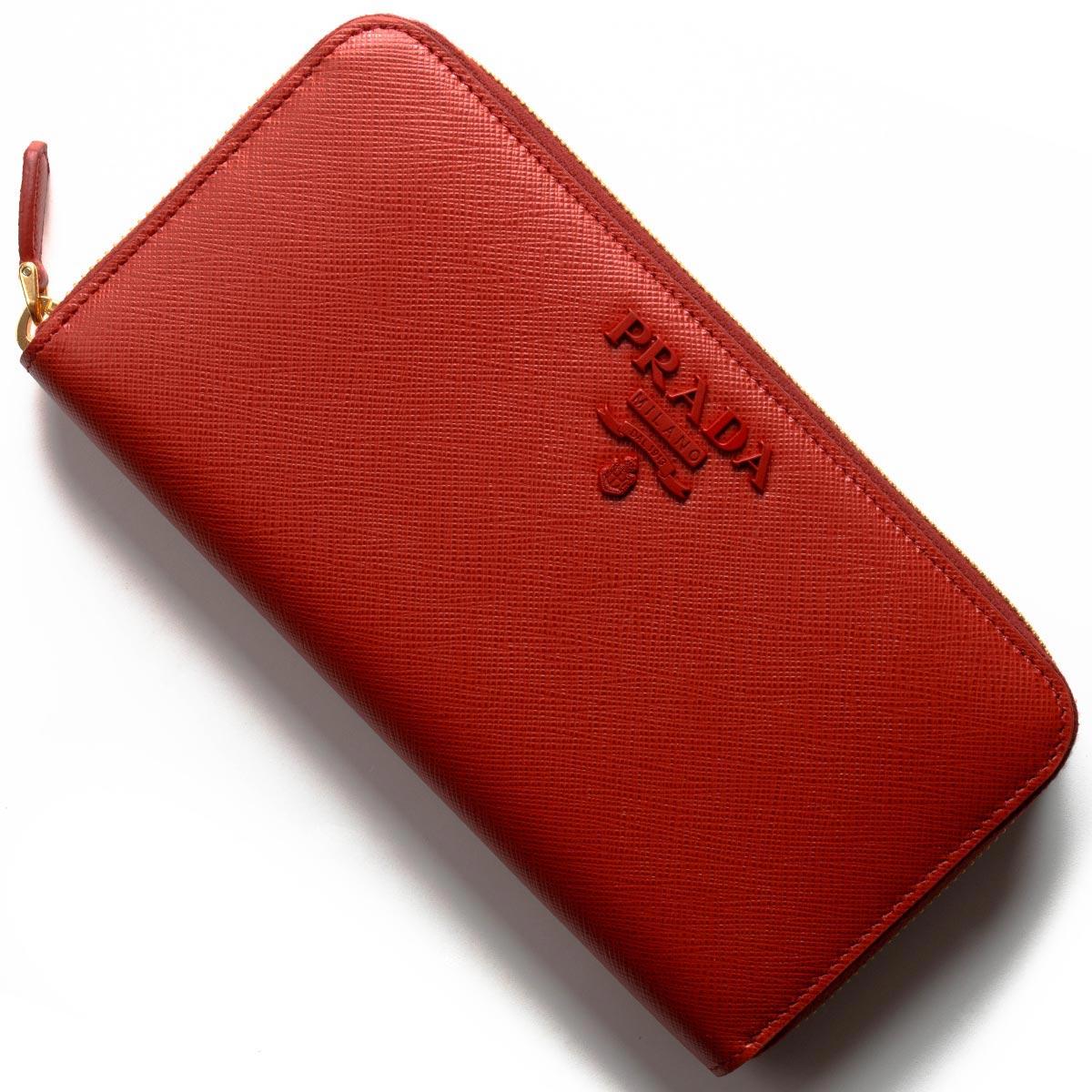 f46e2f665ff7 プラダ 長財布 財布 レディース サフィアーノ シャイン フォーコレッド ...
