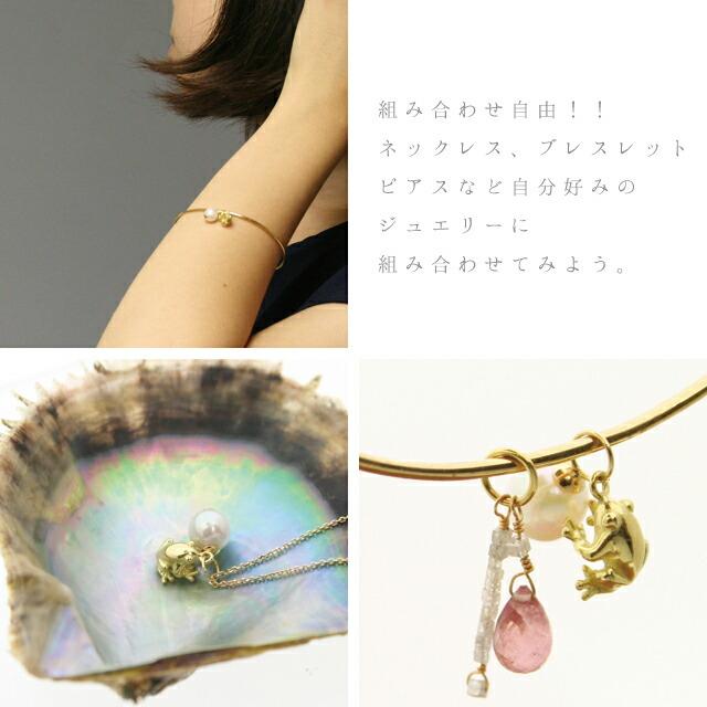 アコヤ真珠ネックレス k18 ゴールドネックレス バングル