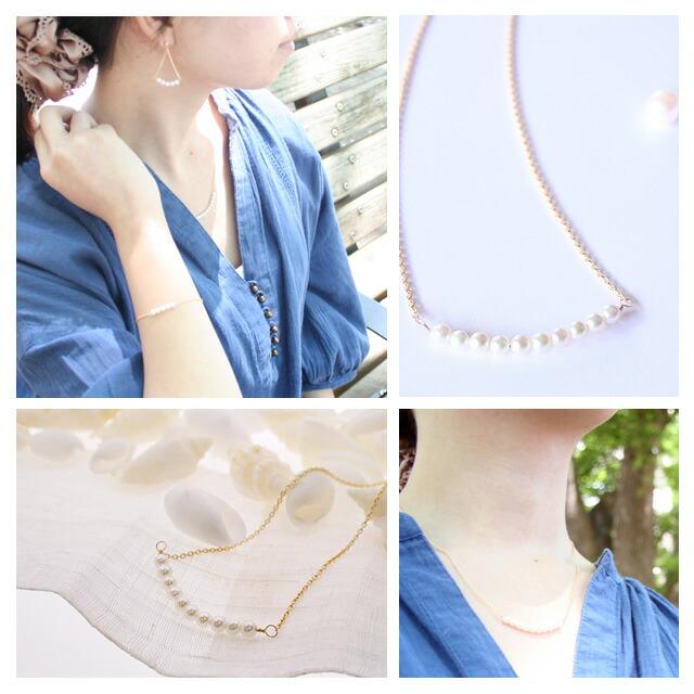 アコヤ真珠ネックレス k18 ゴールドネックレス べビーパールネックレス