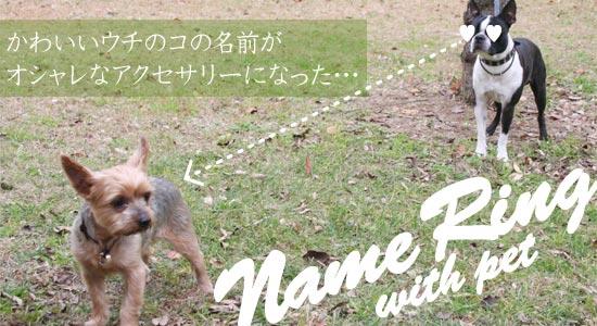 かわいいウチのペットの名前がおしゃれなアクセサリーになった ウィズ ペット ボストンテリア