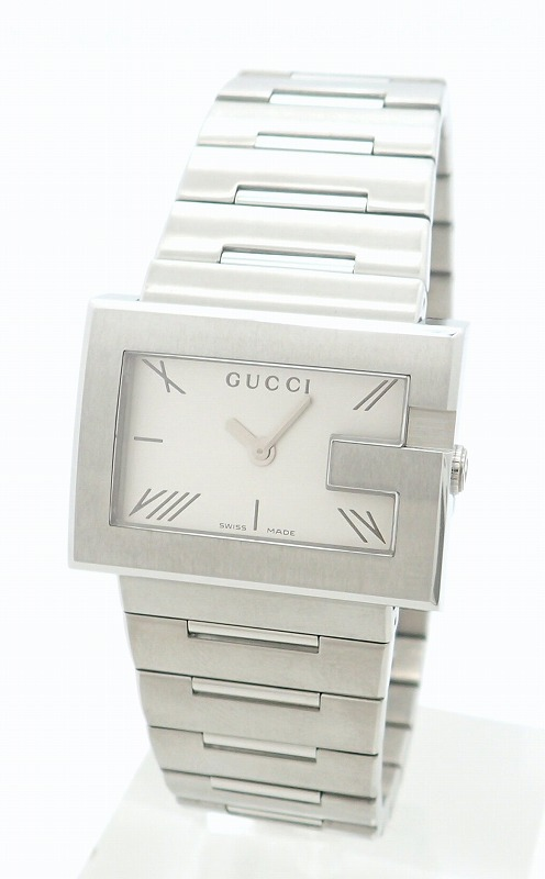 c138ee710db ... UPC 731903089044 product image for Gucci Rectangle Silver Dial Ss Ladies  Qz Quartz Watch 100l Ya100506