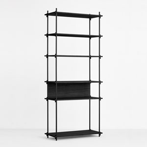 SHELVING SYSTEM (Black) SINGLE H200