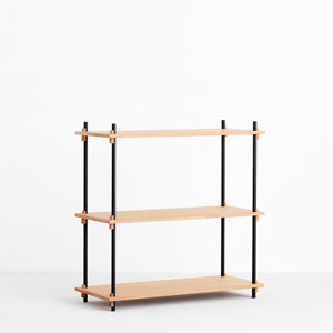 SHELVING SYSTEM (Oak) SINGLE H85