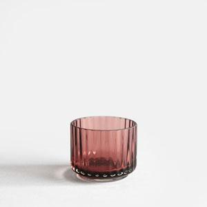 Tealight holder Glass(Burgundy)