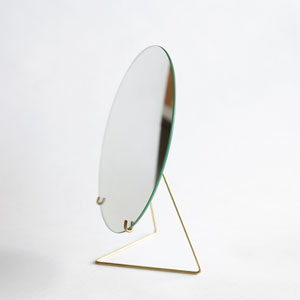 MIRROR-20cmφ(Brass)