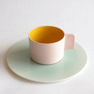 "1616/arita japan / SB ""Colour Porcelain"" Coffee Cup(pink)"