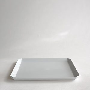 "TY ""Standard"" Square Plate200(Plain Gray)"