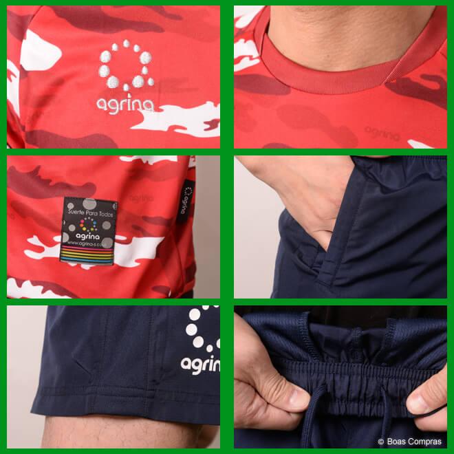 アグリナ/agrina プラシャツ上下セット カモエンカントプラクティスシャツ上下セット
