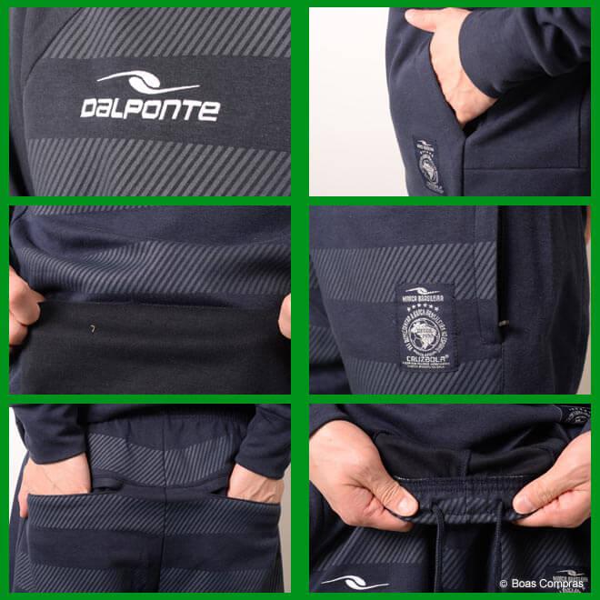 ダウポンチ/dalponte スウェット上下セット トレーニングスウェットクルーネックシャツ上下セット