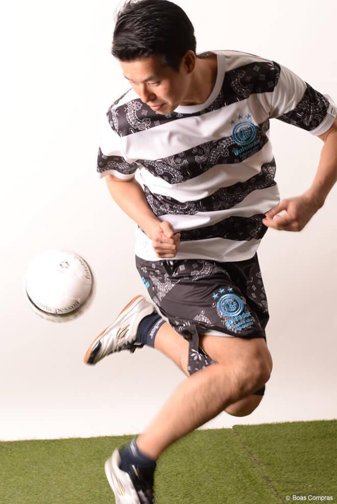 ゴレアドール/goleador プラシャツ上下セット バンダナ柄ボーダープラTシャツ上下セット