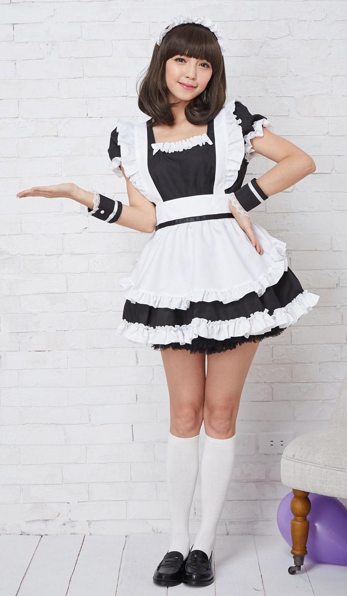 ハロウィンコスプレベロニクメイドコスプレメイド衣装アリス大人用ロリータM〜2Lサイズあり7色展開4点セットcostume412衣装