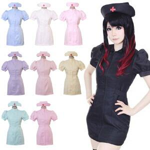 女医ナース2点セットM〜2Lサイズあり全9色展開costume739衣装