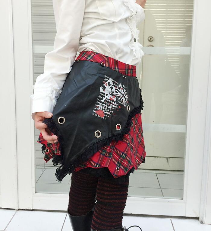 スチームパンク制服チェエクドクロスカートコスプレ発表会M〜4Lサイズあり2色展開p309衣装