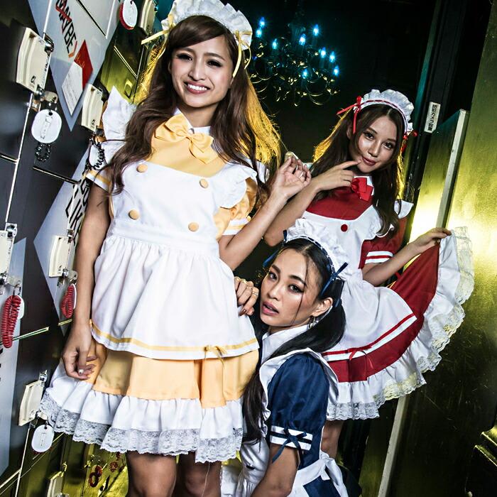 東京エンジェルメイドコスプレメイド衣装アリス大人用ロリータM〜4Lサイズあり10色展開4点セットcostume452衣装