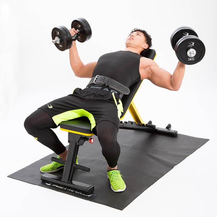 Bench Press Person: Bodymaker: Multi-purpose Bench Training Machine Back