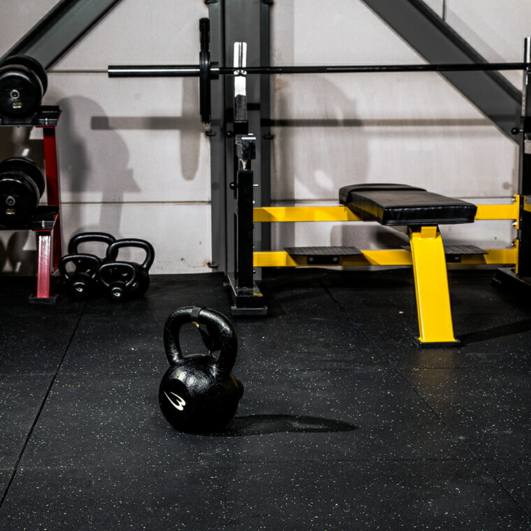 ラバーマット 2cm厚 ジムマット トレーニングマット 頑丈
