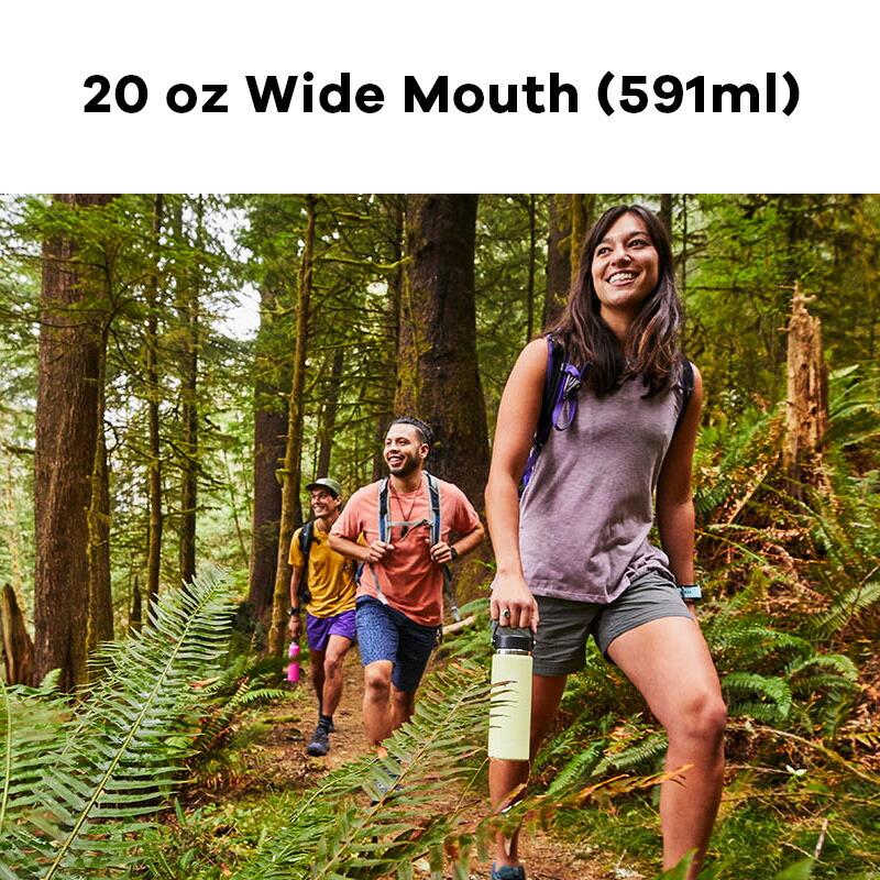 ハイドロフラスク Hydro Flask 20 oz Wide Mouth ステンレスボトル(591ml)