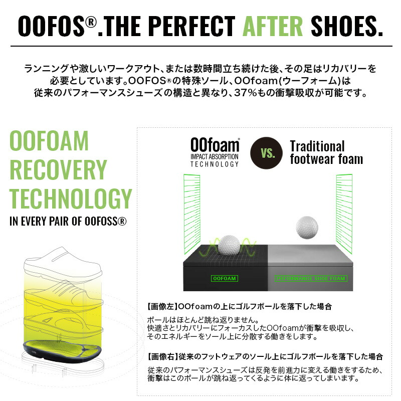 ウーフォス/OOFOS Men's OOMG Fibre Low White Sole