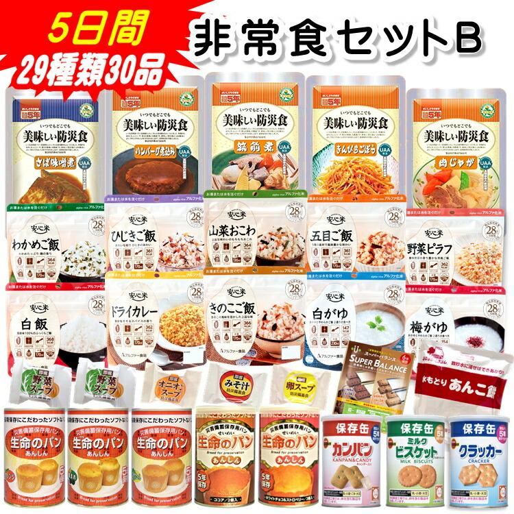非常食セットB 5日  間29種類30品