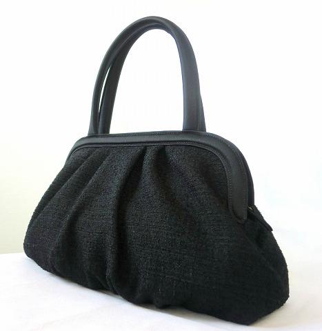 米沢織 ツイードソフトバッグ