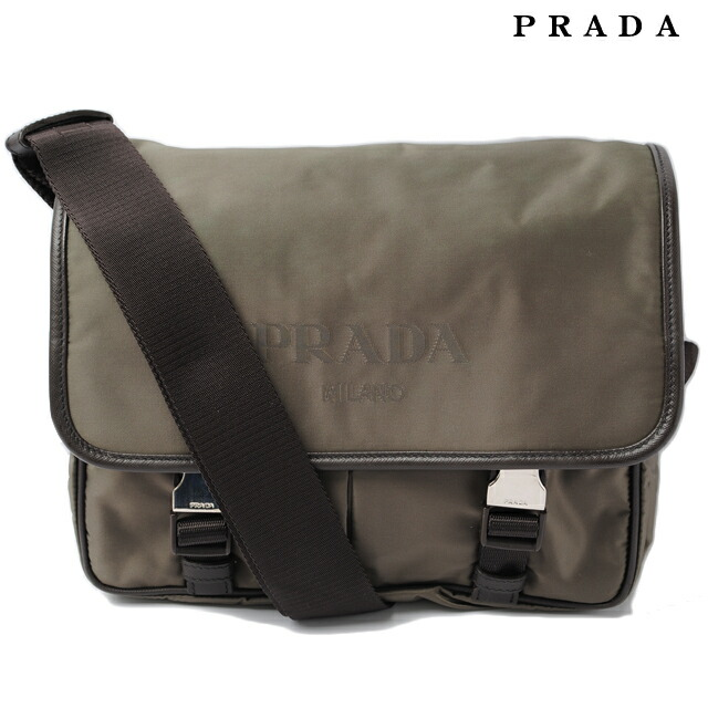 f9240bbd8e3d Shoulder bag and Messenger bag VA0769 NYLOV LOGO   nylon FUMO   khaki mens  line プラダPRADA メンズ 折り財布 スカル テスート ブラック