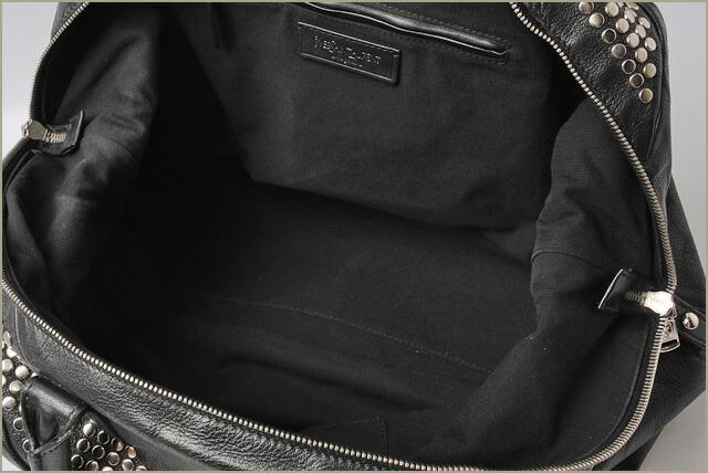 YSL イヴ・サンローラン トートバッグ クロコ柄ステッチ パテントレザー ブラック 181234