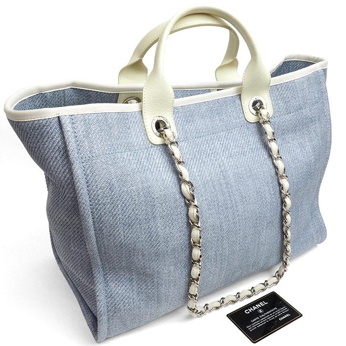 a4401aad4372 商品番号bag-11630-741042ブランドCHANEL / シャネルラインドーヴィル型番A66941  シリアル18986057素材キャンバス×カーフスキンカラーライトブルー×ホワイトカテゴリ ...